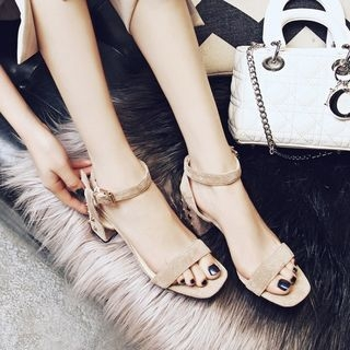 JY Shoes - Studded Block Heel Sandals