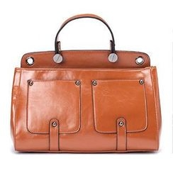 O.SA - Faux-Leather Front-Pocket Satchel