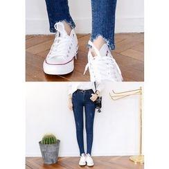 DEEPNY - Fray-Hem Skinny Jeans