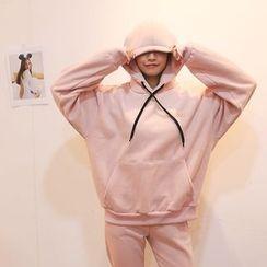 DABAGIRL - Hooded Brushed-Fleece Lined Pullover