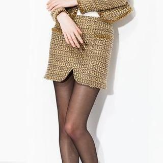 I-DOU - Tweed Miniskirt