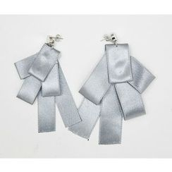 Ticoo - Non-matching Ribbon Earrings