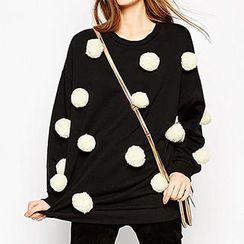Richcoco - Contrast Bobble Pullover