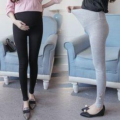 Mapple - Maternity Appliqué Leggings