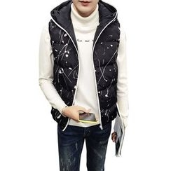 Eight Degrees - Printed Hooded Padded Vest