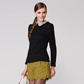 O.SA - Lace-Hem Shorts