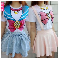 Cosgirl - Sailor Moon Sailor Soldiers Cosplay T-Shirt