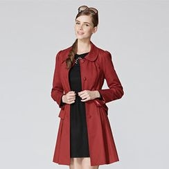 O.SA - Layered Ruffled Trench Coat