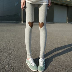 Kleggings - Heart Applique Leggings