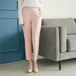 Styleberry - Flat-Front Straight-Cut Pants
