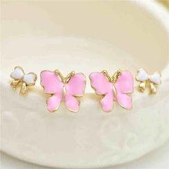 Best Jewellery - Set of 2: Butterfly Earrings + Bow Earrings