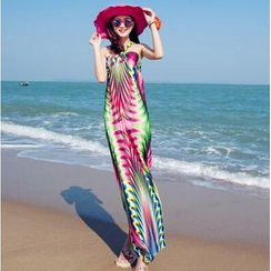 菲兒 - 碎花沙灘連衣裙