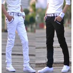 Izme - 纯色棉质长裤