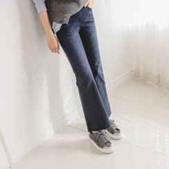 JUSTONE - Brushed-Fleece Lined Boot-Cut Jeans