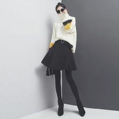 Sonne - A型大摆压褶半身裙