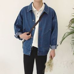 JUN.LEE - Embroidered Denim Jacket
