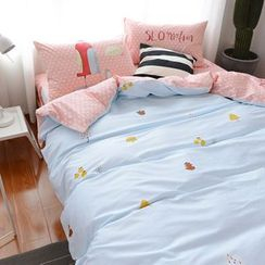 Petrie - Bedding Set: Quilt + Pillowcases +  Sheet