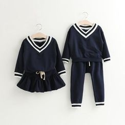 Rakkaus - Set: Kids Top + Skirt / Set: Kids Top + Pants