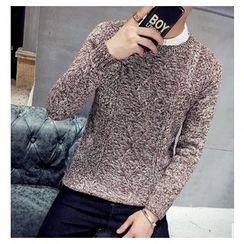 Fisen - Melange Cable Knit Sweater