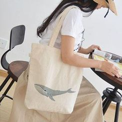 Aoba - Whale Printed Shopper Bag