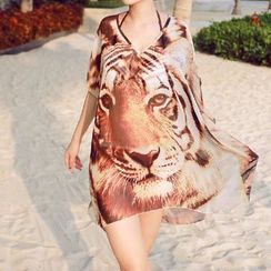 Sunset Hours - Tiger Print Cover-Up