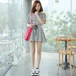 Envy Look - Tie-Waist Stripe Tunic