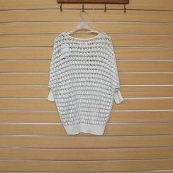 TWILOS - 3/4-Sleeve Open-Knit Top