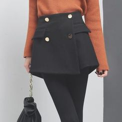 Sonne - 金属扣加厚西装短裤