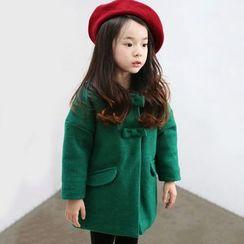 Rakkaus - Kids Bow-Accent Snap-Button Coat