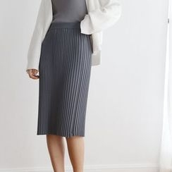 TAILO - Pleated Knit Skirt