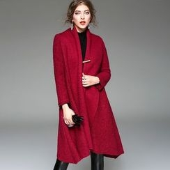 Y:Q - Shawl Collar Wool Blend Coat