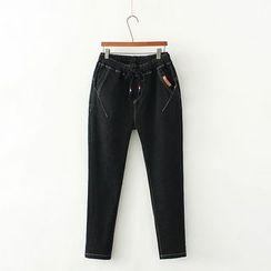 Lina Cota - 抽绳直筒牛仔裤
