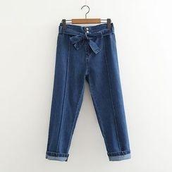 MAOMAO - Bow Wide Leg Jeans