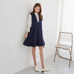 Seoul Fashion - Monk Two-Piece Shift Dress