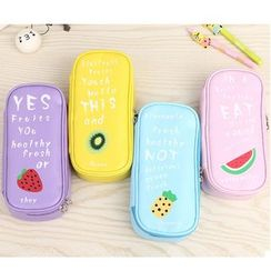 School Time - Fruit Print Pencil Case