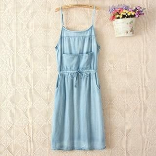 LULUS - Sleeveless Denim Dress