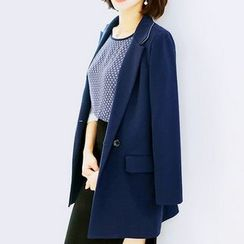 Sherbo - Notched-Lapel Buttoned Long Blazer