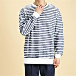THE COVER - Round-Neck Stripe Pullover