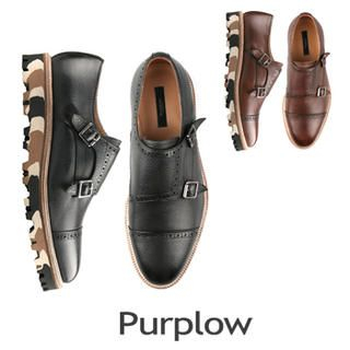 Purplow - Camouflage Trim Monk Strap Shoes