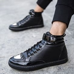 Main Road - Studded High-top Sneakers