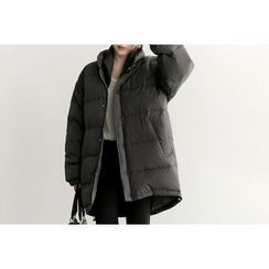 UPTOWNHOLIC - Hidden-Button Padded Jacket