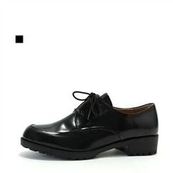 MODELSIS - Faux-Leather Oxford Flats
