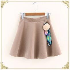 布衣天使 - 毛毛球A字短裙