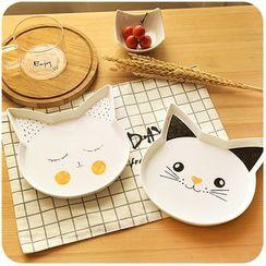 默默愛 - 小貓印花盤子