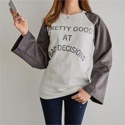PEPER - Raglan-Sleeve Lettering T-Shirt