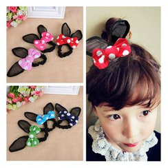 Aurabe - Kids Rabbit-Ears Ribbon Hair Tie