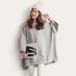 NANING9 - Oversized Kimono Sleeve Pullover