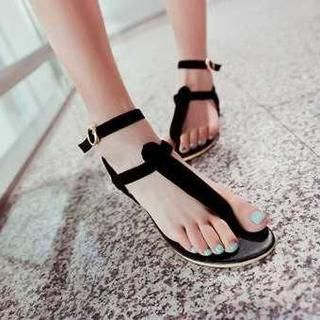 Pangmama - Ankle-Strap Thong Sandals