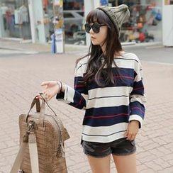 REDOPIN - Cotton Stripe T-Shirt