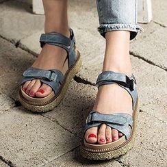 MIAOLV - 饰扣凉鞋
